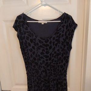 3/$15 LOFT Black & Blue Pattern Dress Med